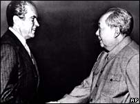 Richard Nixon y Mao Zedong