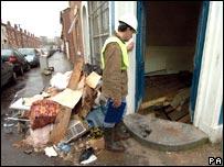 Surveyor at the former shop