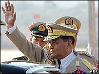 Burma's Senior General Than Shwe 