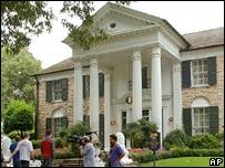 Elvis Presley's former home, Graceland