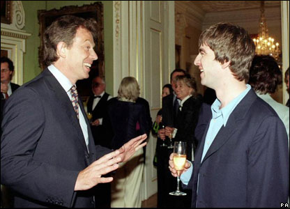 Noel Gallagher of Oasis meets the PM at No 10