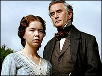 Anna Maxwell Martin and Denis Lawson in Bleak House