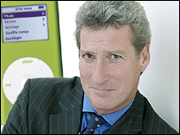 Jeremy Paxman and an iPod