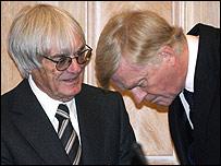 F1 bosses Bernie Ecclestone and Max Mosley