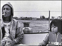 John Lennon with son Sean on board the Megan Jaye
