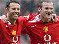 Ryan Giggs and Wayne Rooney share Man Utd's goals