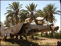 Old MiG fighter jet at al-Asad air base, Iraq (image courtesy public affairs dept, al-Asad)