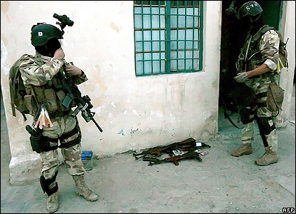 The Iraqi Special Operations Forces Brigade on an operation