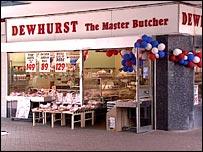 Dewhurst butchers shop in 1995
