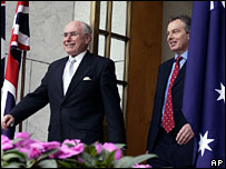 John Howard and Tony Blair