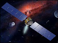 Dawn spacecraft  Image: William K Hartmann/UCLA