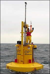 Simon Gompertz on buoy