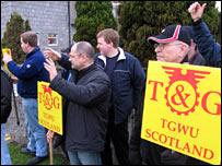 A picket line in Aberdeen