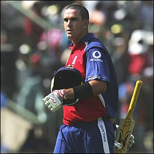 England's Kevin Pietersen departs for 46