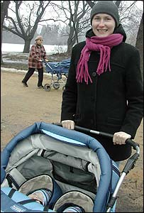 Anna Jurczak, who has six-month-old twin boys 
