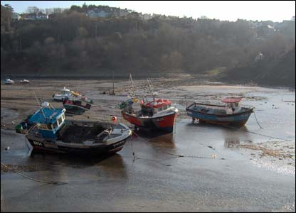 Fishing boats at rest in Fishguard (Pete Spriggs, a Canadian living in Swansea).