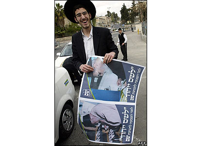An Ultra-Orthodox supporter of the Shas party