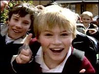 Schoolchildren at Ivybridge