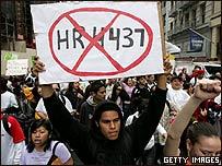 Inmigración protesta