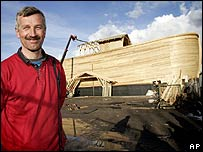 Johan Huibers and his replica of Noah's Ark