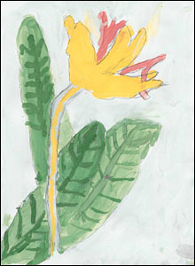 Flower , a painting by Ali Abbas