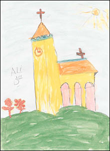 Church, a painting by Ali Abbas