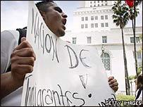 Inmigrantes protesta