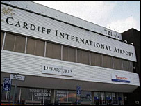 Cardiff International Airport terminal building