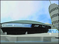 Artist's impression of the new Mary Rose Museum