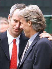 John McEnroe (left) Bjorn Borg (right)