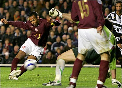 Thierry Henry scores