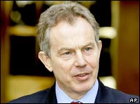 Tony Blair during his trip to Australia