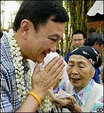 Thaksin Shinawatra in Lamphun
