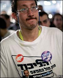 A Likud Party supporter