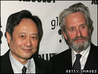 Ang Lee (l) and Michael Douglas