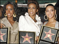 Beyonce Knowles (r), Kelly Rowland and Michelle Williams