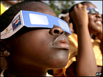 Eclipse watchers in Ghana (AP)
