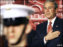 President Bush at a naturalisation ceremony