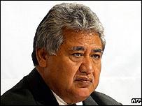 Incumbent Samoan Prime Minister Tuliaepa Sailele Malielegaoi