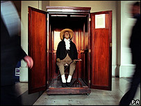 Jeremy Bentham's preserved body is kept at University College London