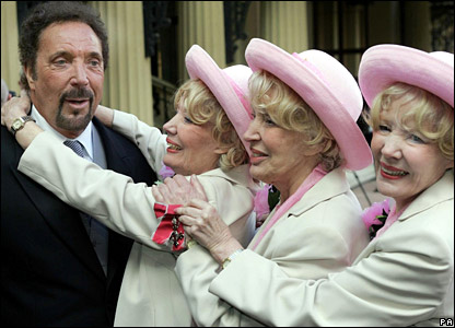Sir Tom Jones with the Beverley Sisters
