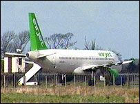 Plane which landed at Ballykelly army base
