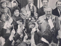 Harold Wilson campaigning in 1966