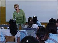 Aula de clases en México