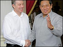 Mr Blair and Mr Yudhoyono