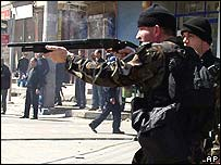Security forces in Diyarbakir