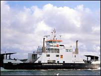 Roll on roll off ferry Loch Portain