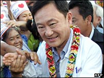 Thaksin Shinawatra on the campaign trail