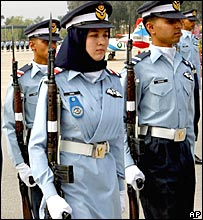 One of four women who qualified as fighter pilots in the Pakistani Armed Forces