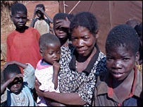 Displaced people in Angola